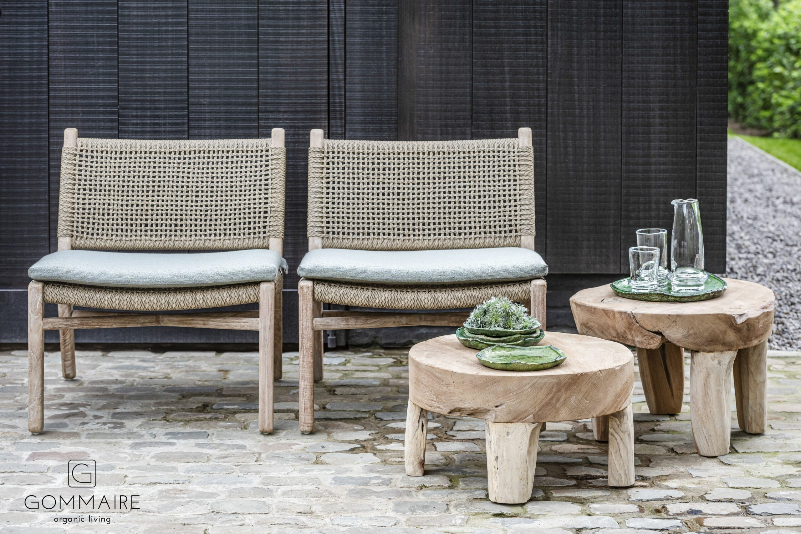 Gommaire outdoor-pe wicker furniture easy chair fiona